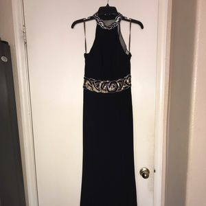 Dresses & Skirts - BLACK EMBROIDERED GOWN